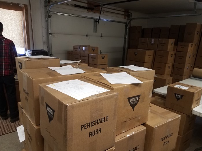 Orders of bison ready to be shipped to homes
