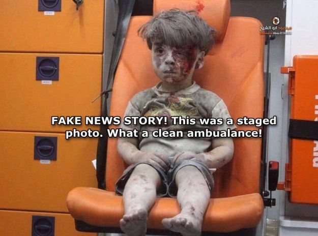 Fake Wounded Aleppo Boy