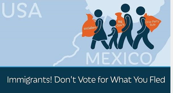 Immigrants - Don't vote for what you just FLED