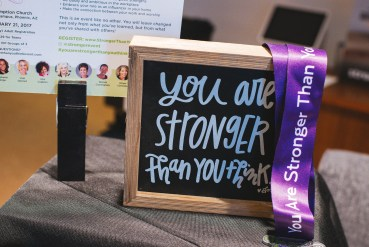 you are stronger than you think event decor