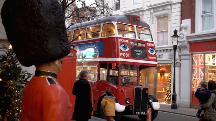 A vintage bus in London