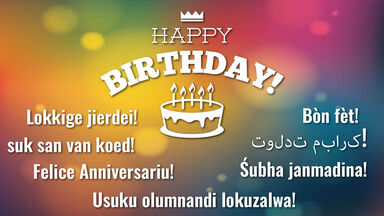 Happy Birthday In 100 Different Languages