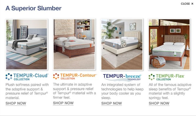A Superior Slumber Tempur Cloud Collection Plush Softness Paired With The Adaptive Support And