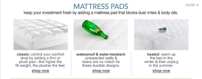 Mattress Pads Keep Your Investment Fresh By Adding A Pad That Blocks Dust Mites