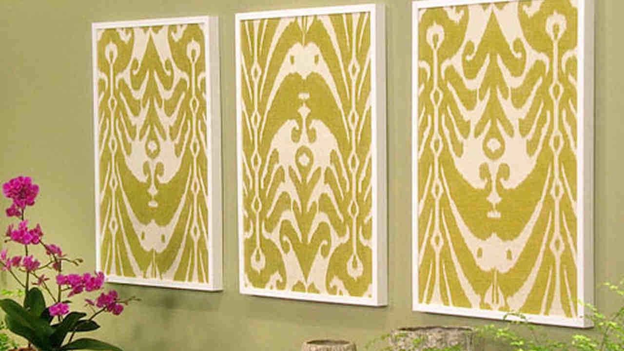 Framed Fabric Wall Art Diy | Framess.co