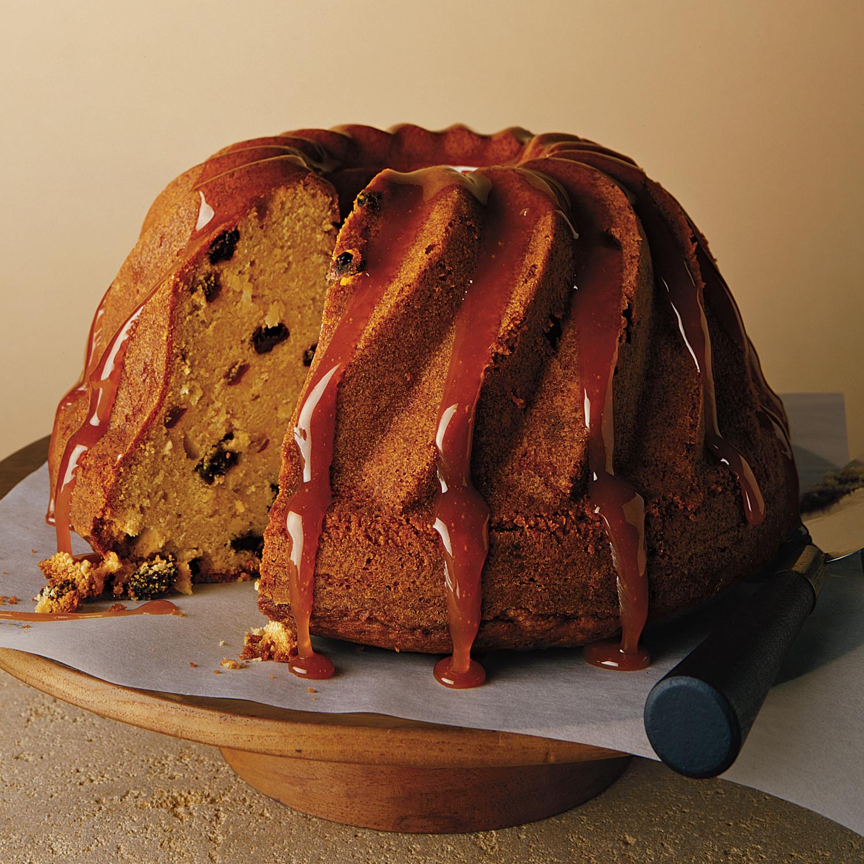 Coconut Rum Raisin Bundt Cake With Rum Caramel Glaze