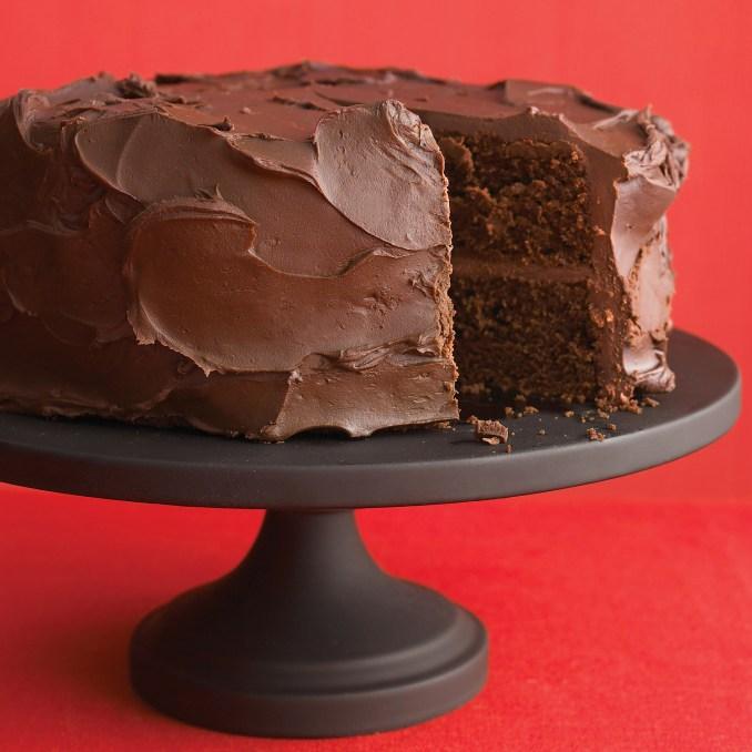 Dark-Chocolate Cake with Ganache Frosting Recipe   Martha
