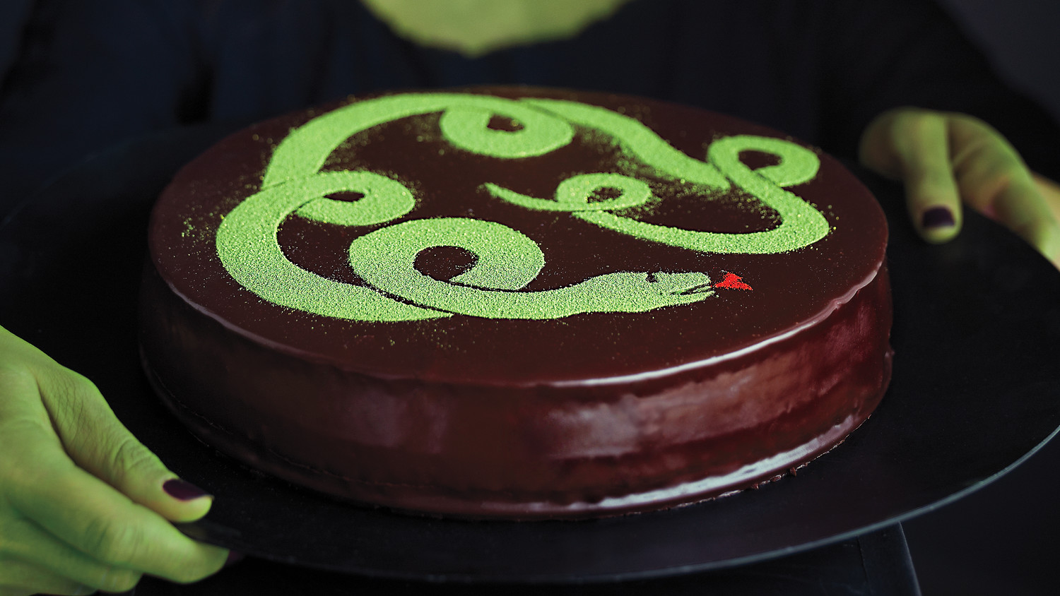 Snake Cake With Venom Glaze