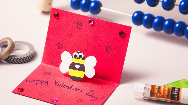 Kids Craft Pop Up Valentines Day Cards Martha Stewart