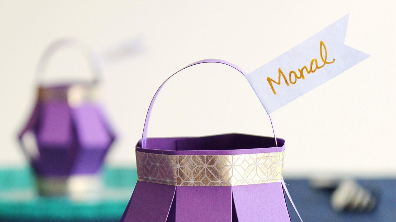 Ramadan Paper Lantern Place Cards Martha Stewart
