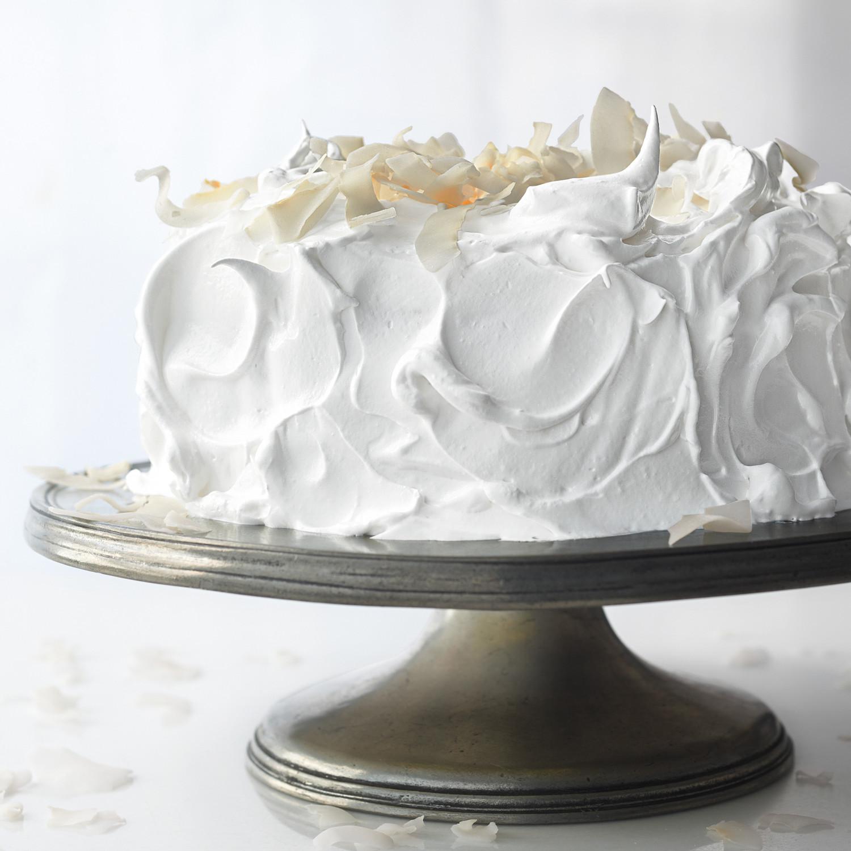 Meringue Frosting For Raspberry White Cake Recipe Martha
