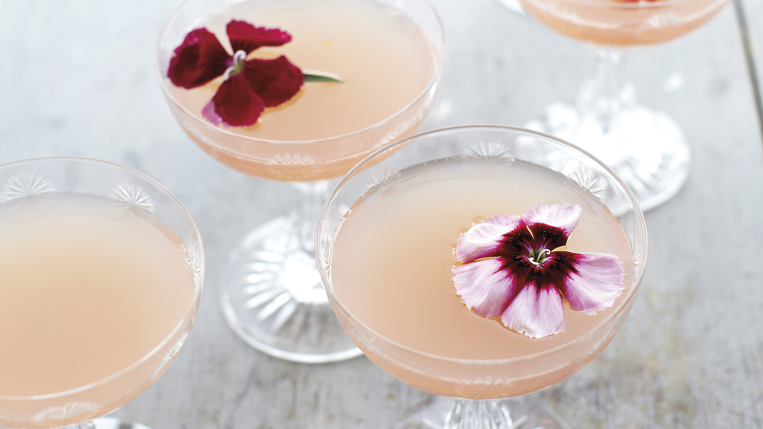 Lillet Rose Spring Cocktail Recipe Martha Stewart