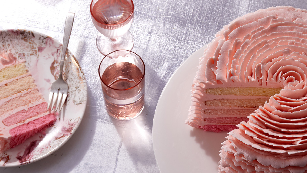 Ombre Strawberry Cake