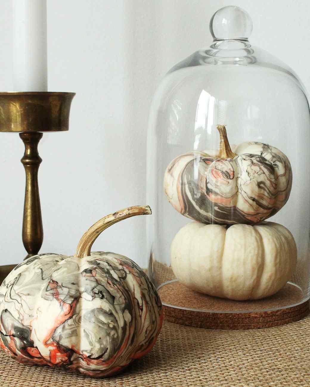 Marbleized Pumpkins For