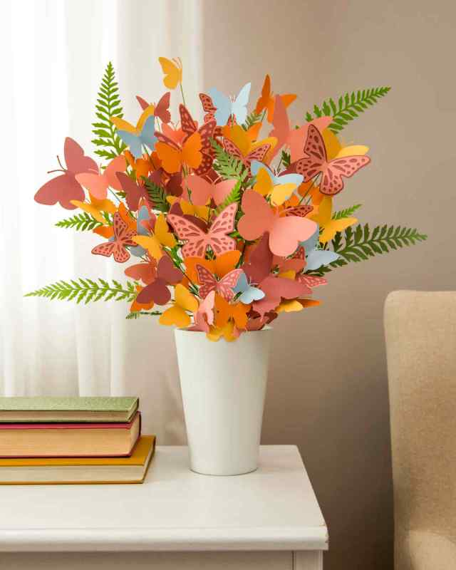 paper butterfly bouquet