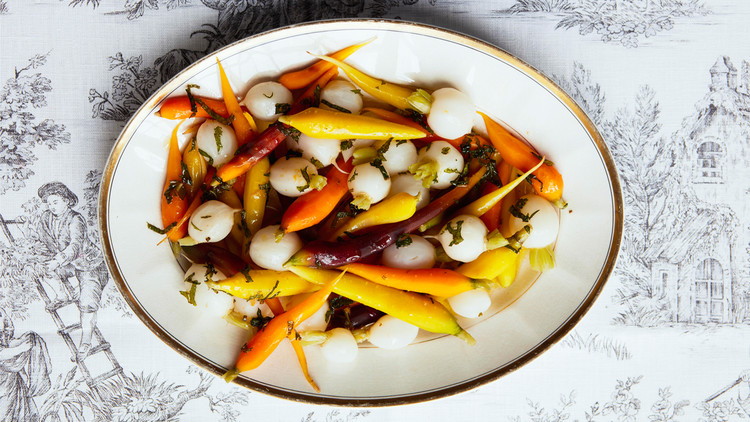 Tender Carrots And Turnips With Mint Dressing Martha Stewart