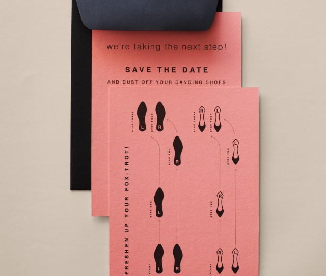 Creative Save The Dates To Kick Off Your Wedding Martha Stewart Weddings