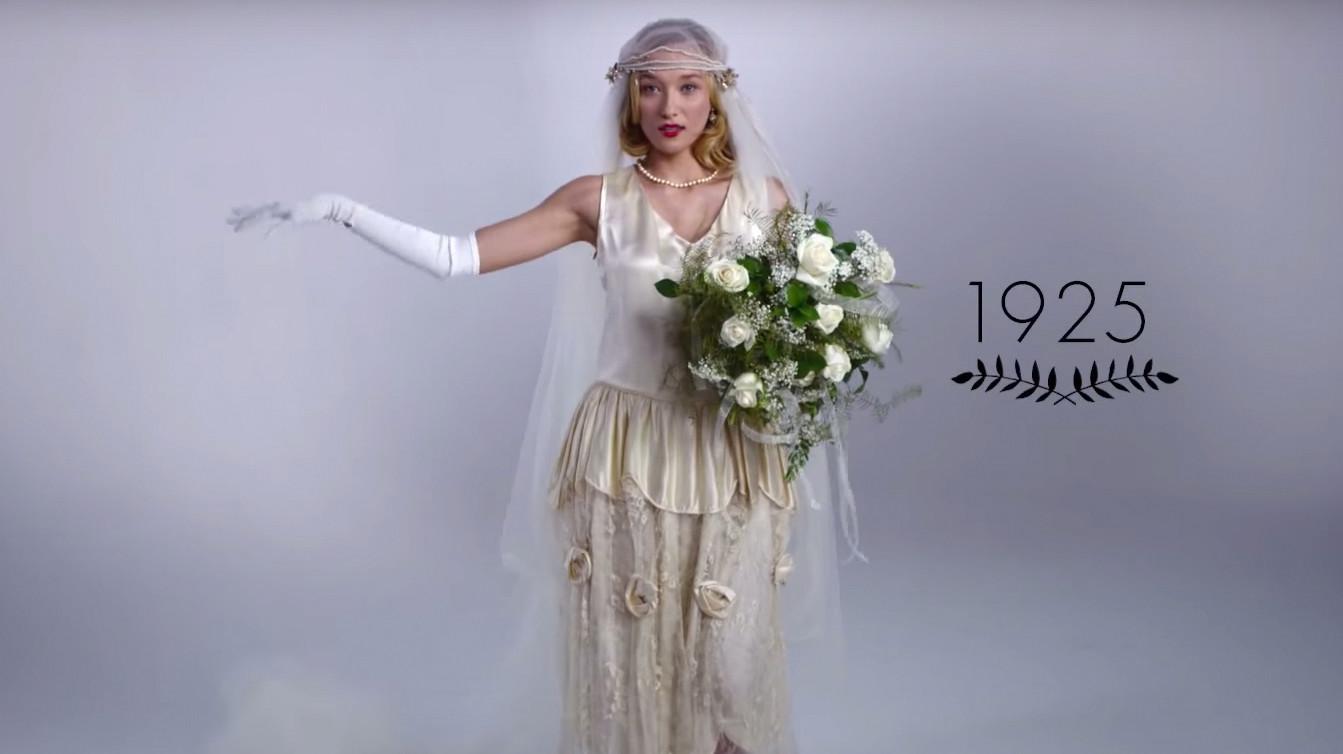 Watch 100 Years Of Wedding Dresses In Just 3 Minutes Martha Stewart Weddings