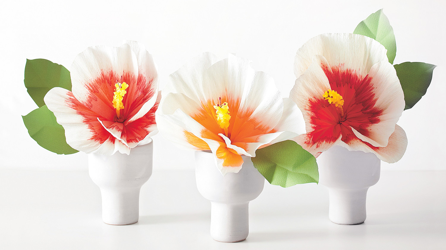 How To Make Bottle Brush Stamen For Hibiscus Paper Flowers