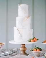50 Beautiful Wedding Cakes That Are  Almost   Too Pretty to Eat     white marbled cake