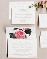 Rebecca David Wedding New York Invitation Suite D112241