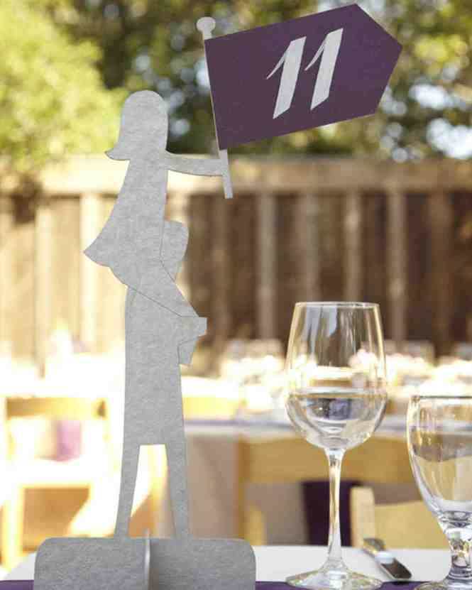 Table Number Wedding Menus