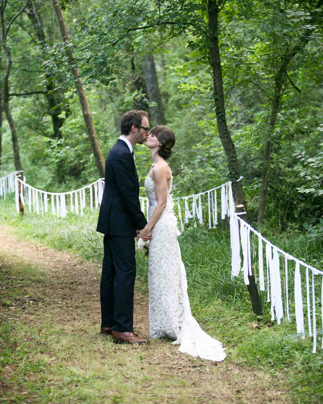 Wendy And Bens Navy And Taupe Backyard Tent Wedding In