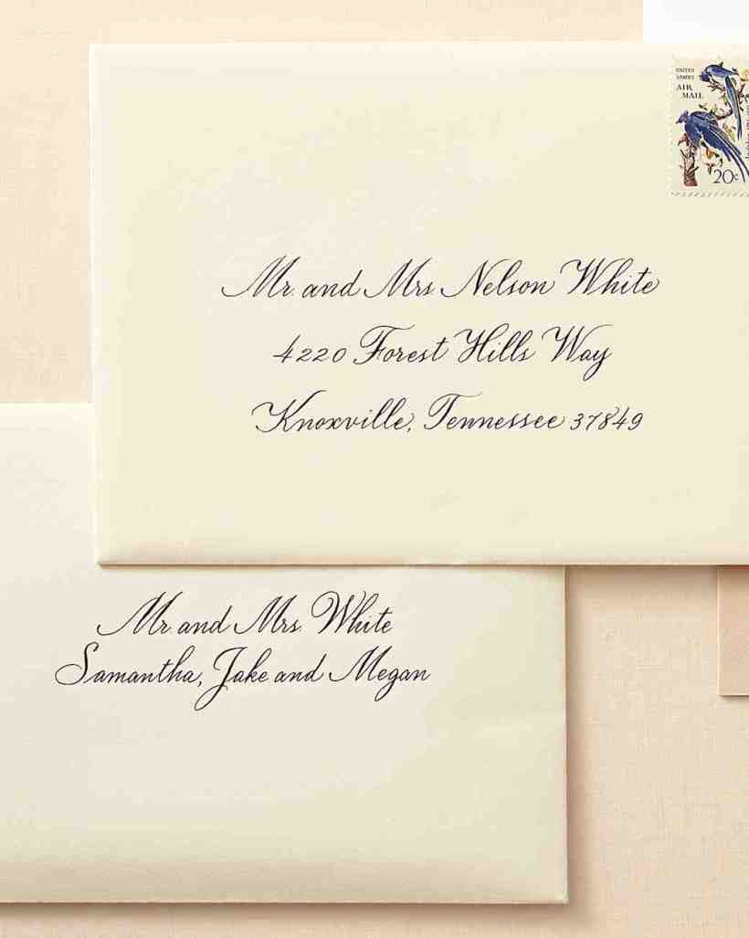 Wedding invitation etiquette wording envelope deweddingjpg how to address guests on wedding invitation envelopes martha filmwisefo