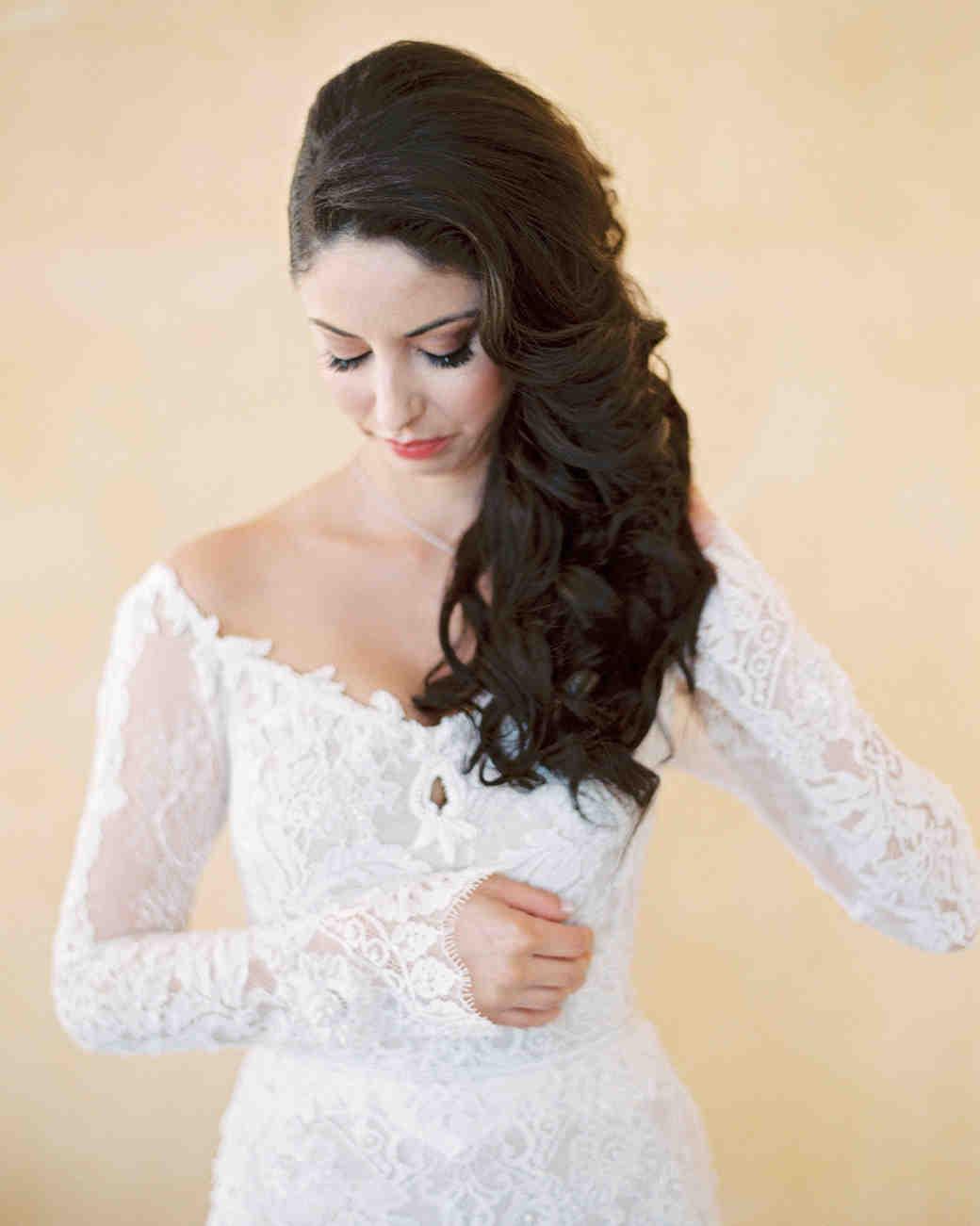 the best hairstyles for every wedding dress neckline martha stewart weddings