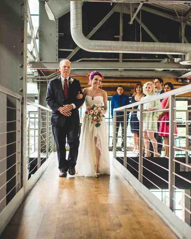 brewery wedding venues bride processional