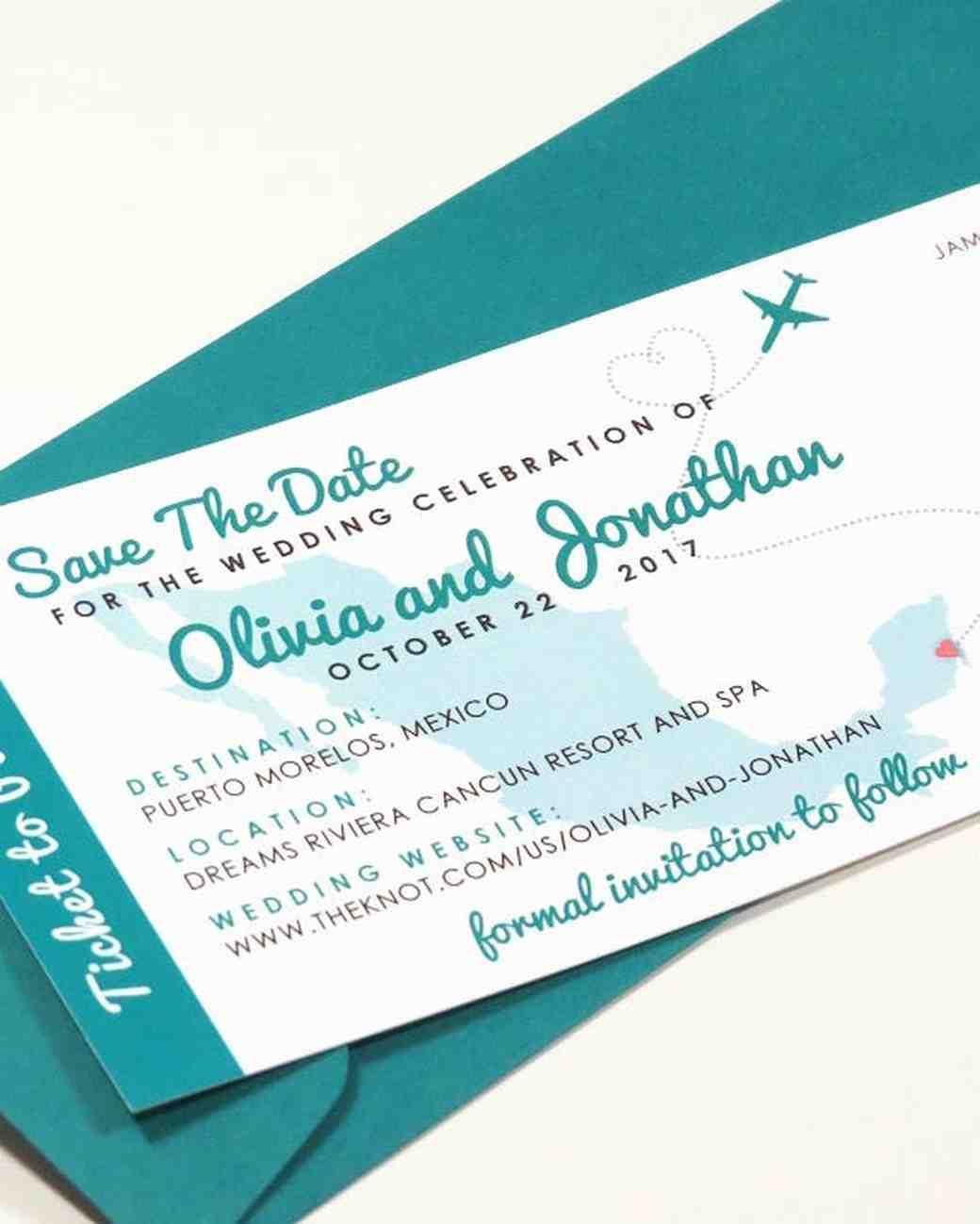 Destination Wedding Save Date