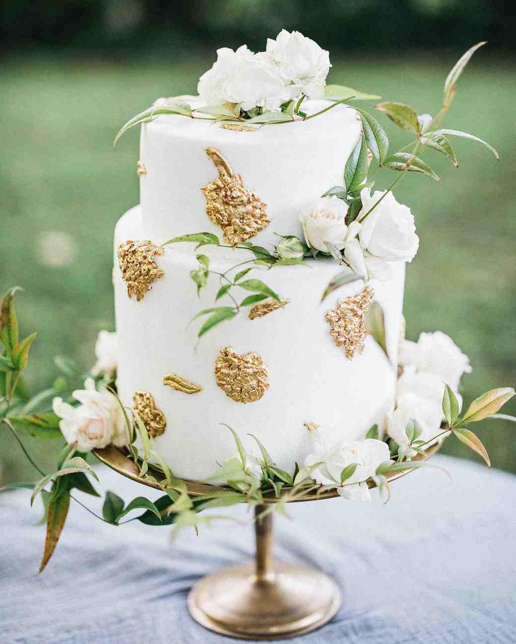 Metallic Wedding Cakes That Make A Shimmering Statement