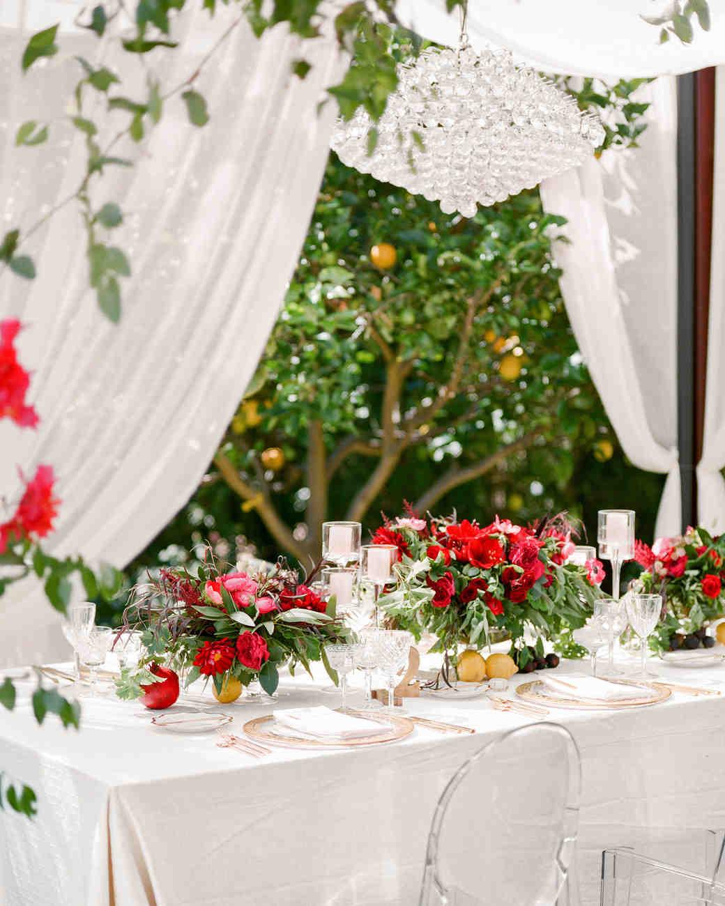 Flowers Wedding Reception Tables