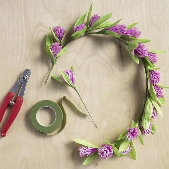 DIY Paper Flower Crown Martha Stewart Weddings
