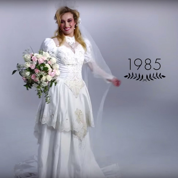 WATCH 100 Years Of Wedding Dresses In Just 3 Minutes