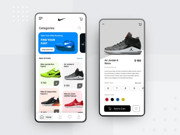 nike app design - uplabs