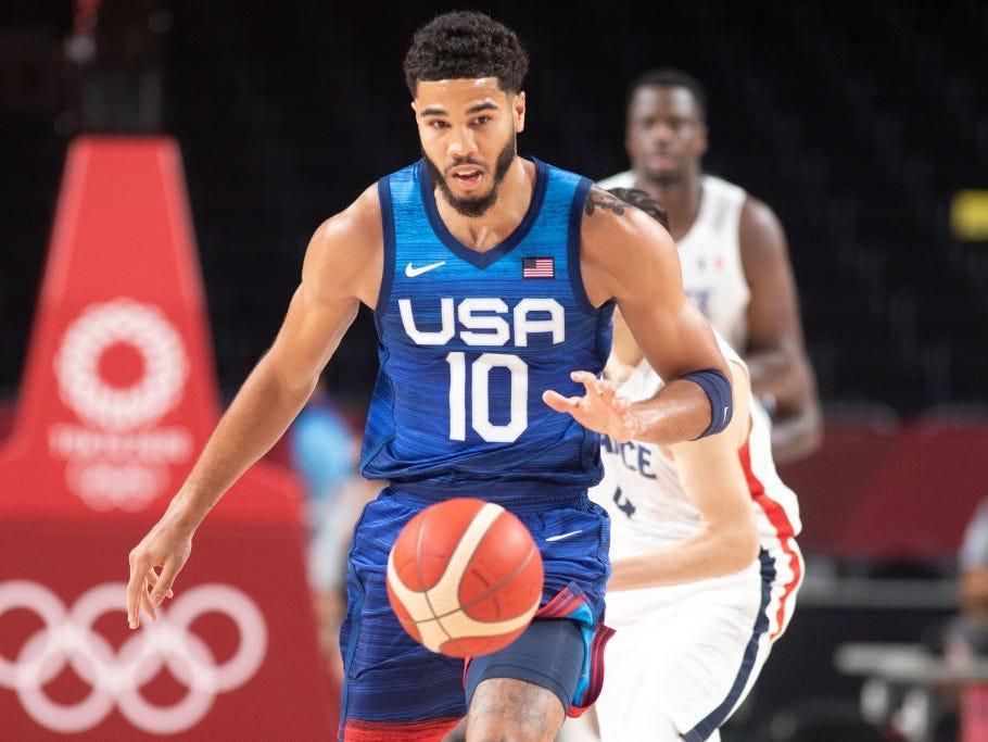 Jayson Tatum of the US men's basketball team.