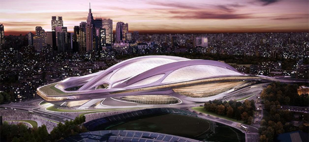 「ザハ・ハディド氏が手がけた新国立競技場の建設計画」の画像検索結果