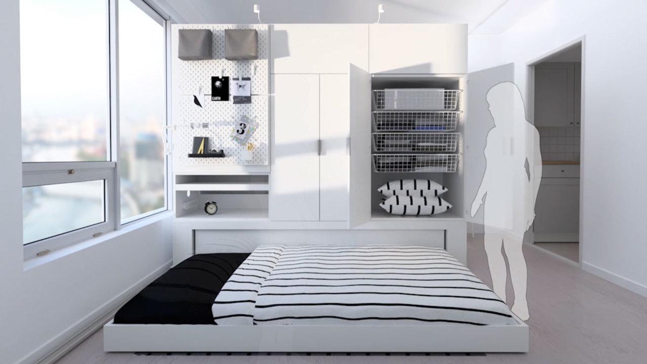 この秘密基地感。モーターで動くikeaのコンパクト一体型家具 ギズモード・ジャパン