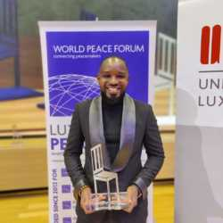 Boniface Mwangi recognized for being a peacemaker