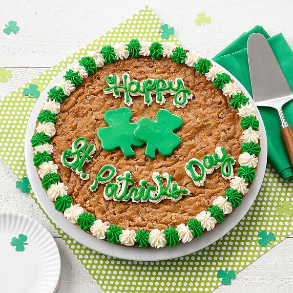 Happy St Patrick S Day Big Cookie Cake Mrs Fields