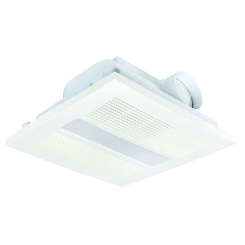 brilliant 4 in 1 solace bathroom heat light exhaust fan white