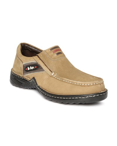 Lee Cooper Men Camel Brown Leather Casual Shoes