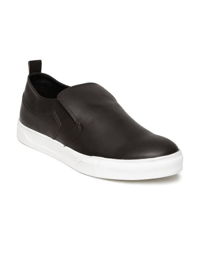 Roadster Men Dark Brown Leather Casual Shoes