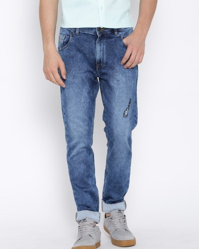 United Colors of Benetton Blue Washed Straight Fit Jeans