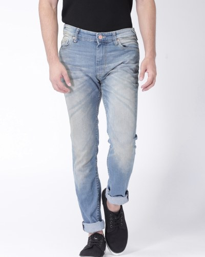 Moda Rapido Blue Washed Skinny Fit Jeans