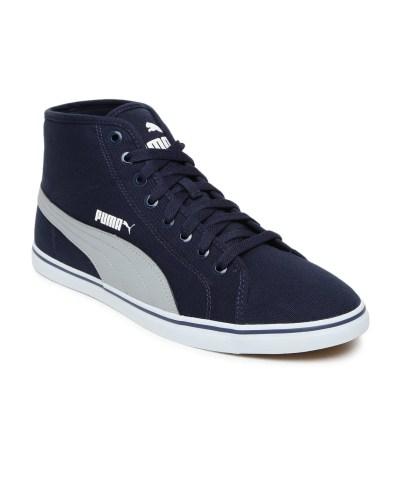PUMA Men Blue Elsu v2 Mid-Top Sneakers