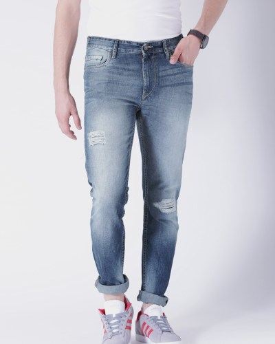 Moda Rapido Blue Washed Slim Fit Jeans