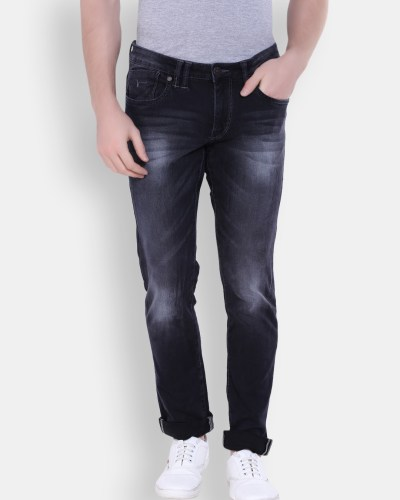 Flying Machine Men Grey Slim Fit Mid-Rise Clean Look Jeans