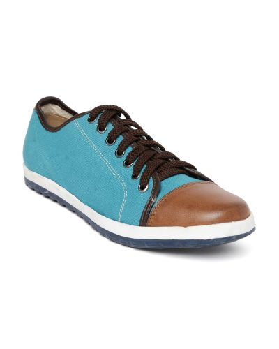 Knotty Derby Men Blue & Brown Colourblocked Sneakers